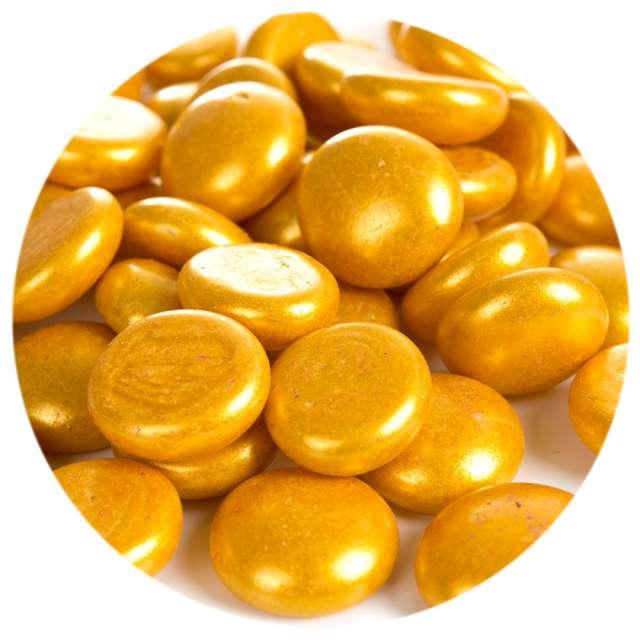 """Kamienie dekoracyjne """"Płaskie"""", złote, Czakos, 40 szt"""