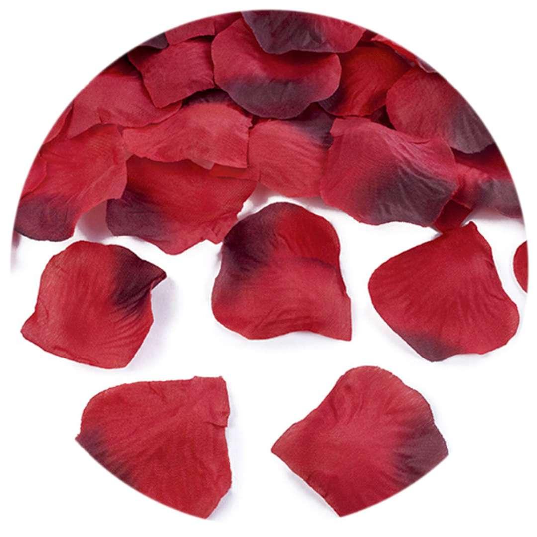 """Płatki róż """"Classic"""", czerwone cieniowane, PartyDeco, 100 szt"""
