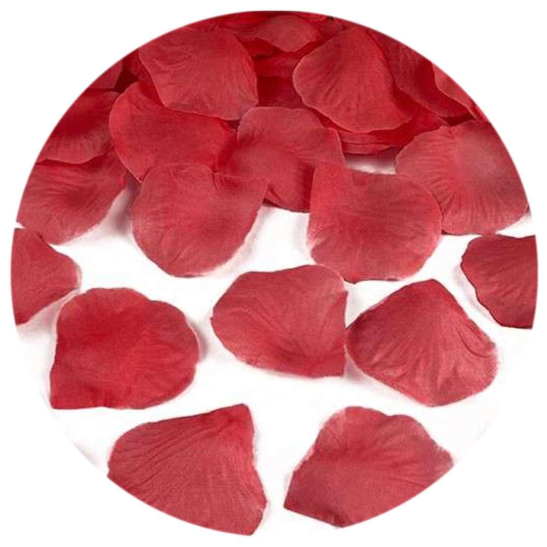 """Płatki róż """"Classic"""", czerwony, PartyDeco, 500 szt"""