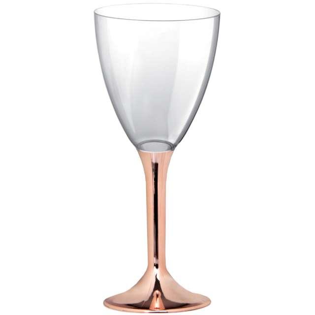 """Kieliszki jednorazowe """"Wino Classic"""", rosegold chrom, GoldPlast, 180 ml, 10 szt"""