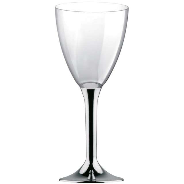 """Kieliszki jednorazowe """"Wino Classic"""", srebrne chrom, GoldPlast, 180 ml, 10 szt"""