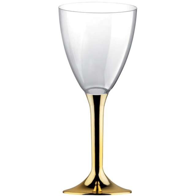 """Kieliszki jednorazowe """"Wino Classic"""", złote chrom, GoldPlast, 180 ml, 10 szt"""