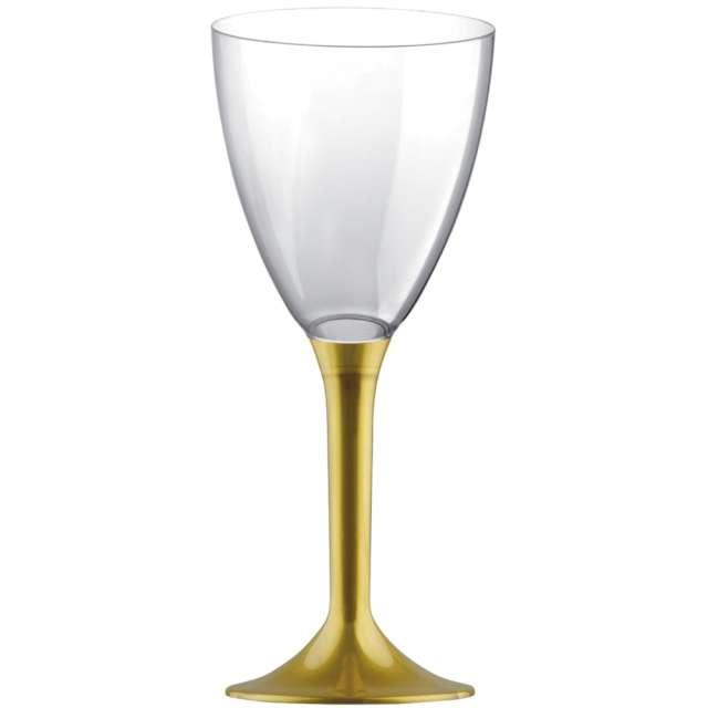 """Kieliszki jednorazowe """"Wino Classic"""", złote, GoldPlast, 180 ml, 10 szt"""