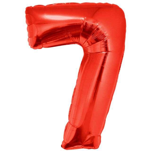 """Balon foliowy """"Cyfra 7"""", czerwony, Funny Fashion, 40"""""""
