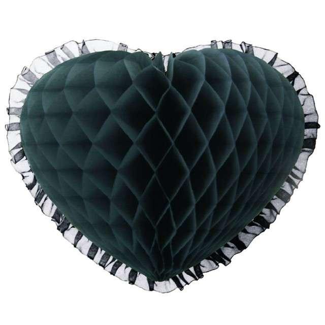 "Dekoracja ""Honeycomb serce"", szara, 45 cm, Funny Fashion"