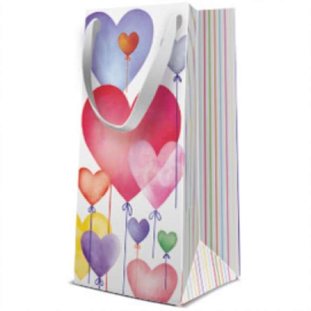 """Torebka prezentowa """"Balony serca - Premium"""", PAW, 10x22 cm"""