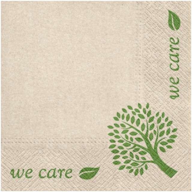 """Serwetki """"We care - drzewo"""", PAW, 33 cm, 20 szt."""