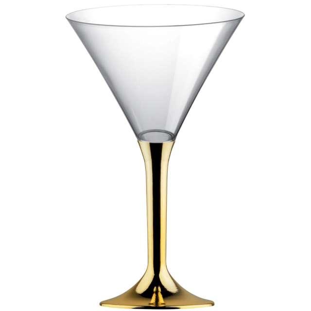 """Kieliszki jednorazowe """"Martini Aperitif"""", złote chrom, GoldPlast, 185 ml, 10 szt"""