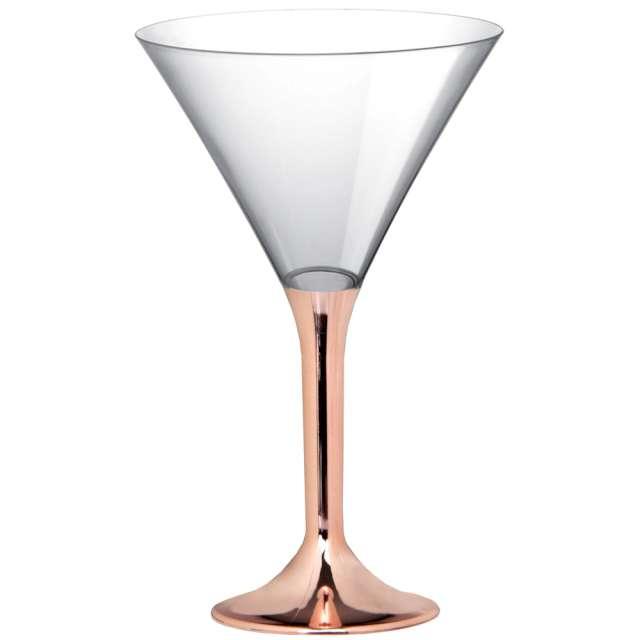 """Kieliszki jednorazowe """"Martini Aperitif"""", rosegold chrom, GoldPlast, 185 ml, 10 szt"""