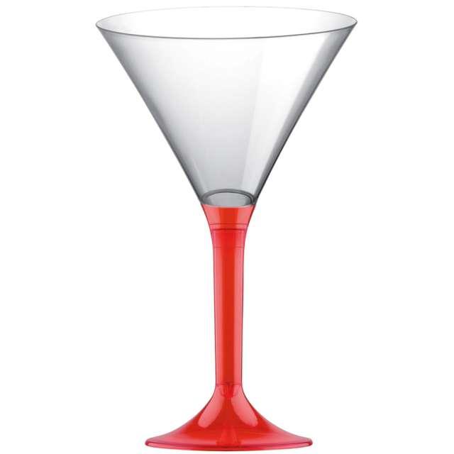 """Kieliszki jednorazowe """"Martini Aperitif"""", czerwone transparent, GoldPlast, 185 ml, 10 szt"""