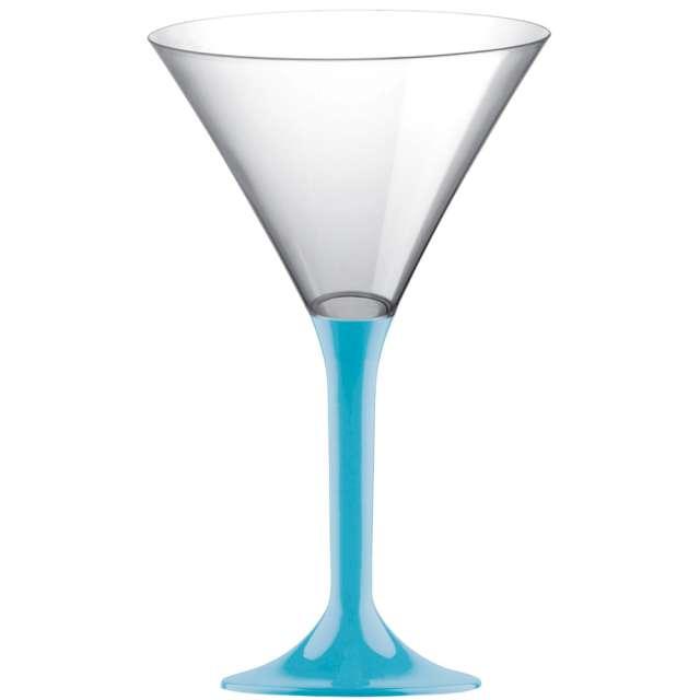 """Kieliszki jednorazowe """"Martini Aperitif"""", turkusowe, GoldPlast, 185 ml, 10 szt"""