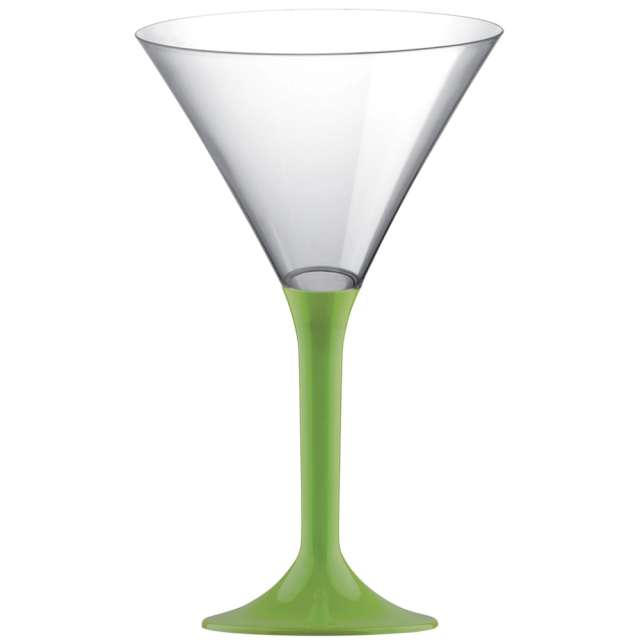 """Kieliszki jednorazowe """"Martini Aperitif"""", zielone jasne, GoldPlast, 185 ml, 10 szt"""