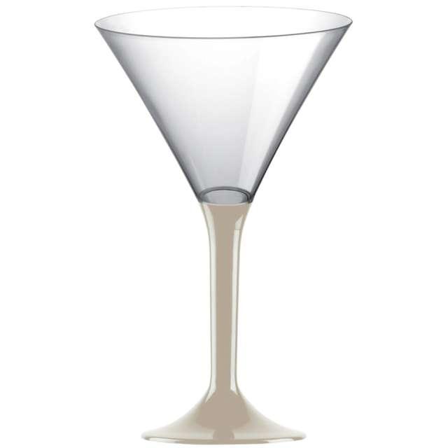"""Kieliszki jednorazowe """"Martini Aperitif"""", beżowe, GoldPlast, 185 ml, 10 szt"""