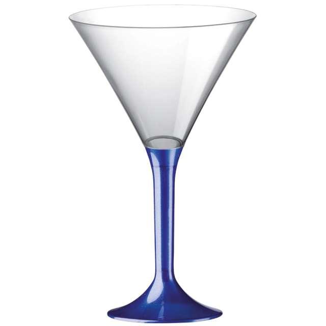"Kieliszki jednorazowe ""Martini Aperitif"", granatowe transparent, GoldPlast, 185 ml, 10 szt"