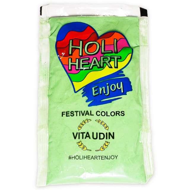 """Proszek kolorowy """"Holi Heart"""", zielony, Godan, 120 g"""