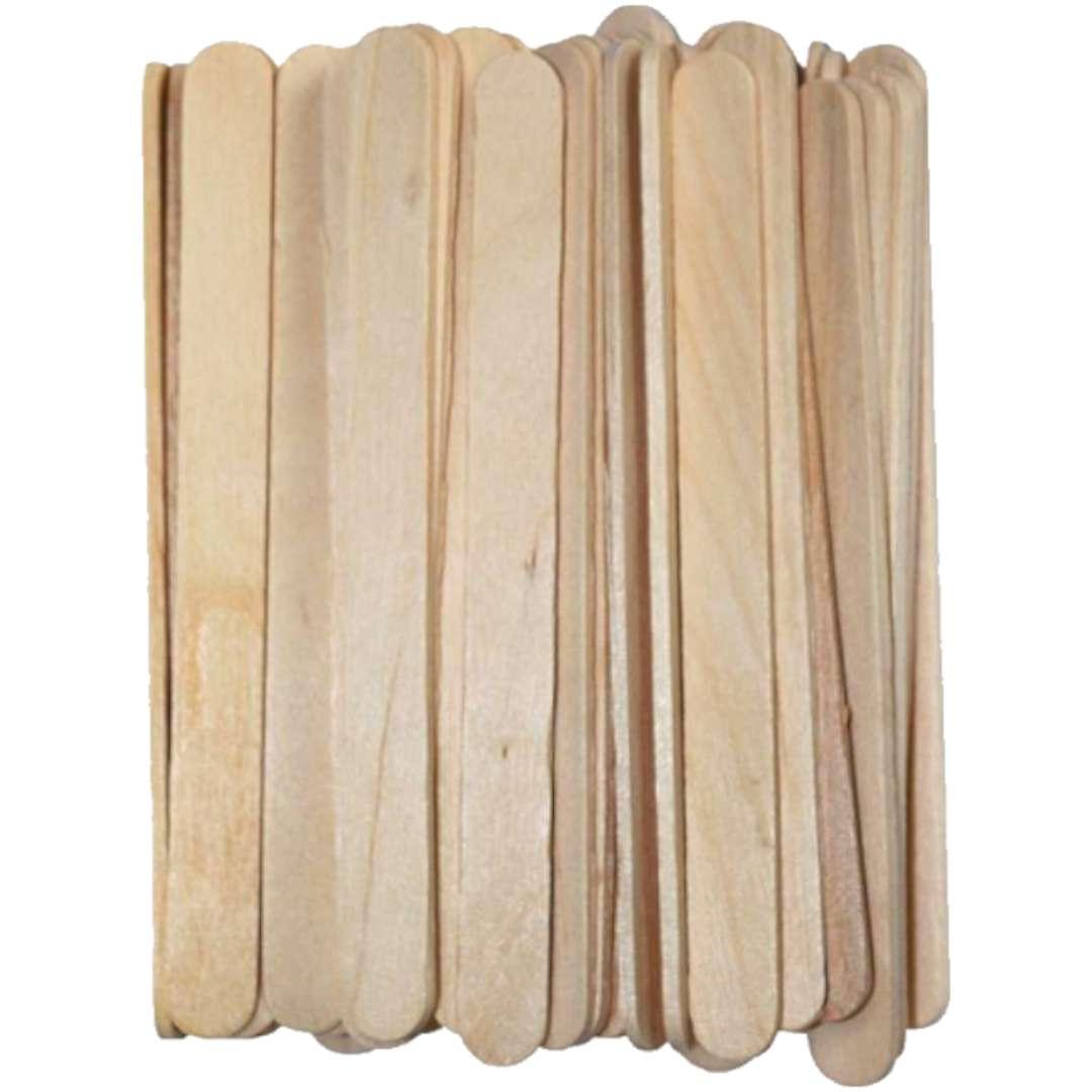 """Patyczki drewniane """"Do lodów - Długie"""", naturalne, Titanum, 113 mm, 70 szt"""