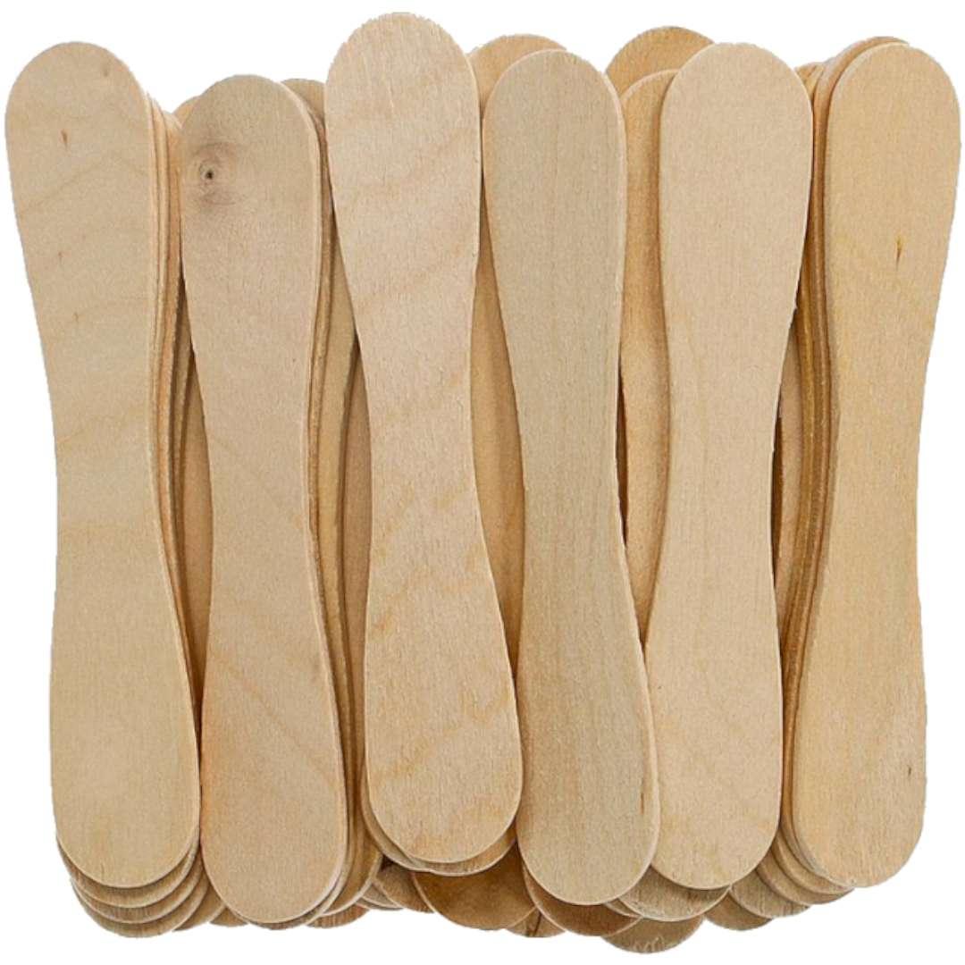 """Patyczki drewniane """"Do lodów - Ósemki"""", naturalne, Titanum, 94 mm, 35 szt"""