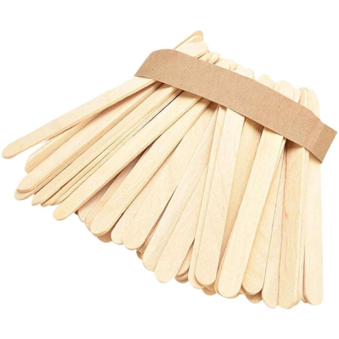 """Patyczki drewniane """"Do lodów - Proste"""", naturalne, Titanum, 100 mm, 35 szt"""