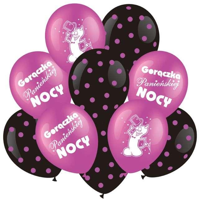 """Balony """"Wieczór Panieński"""", różowe, Partypal, zestaw, 10 szt"""