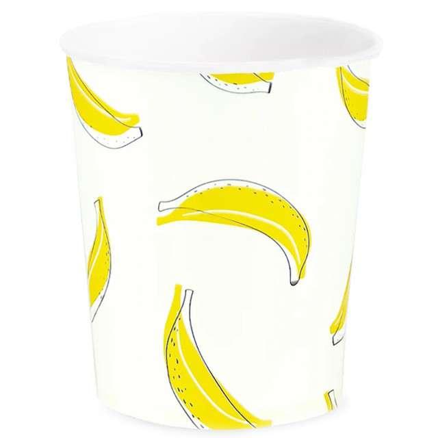 """Kubeczki papierowe """"Bananowe Party"""", PartyPal, 230 ml, 6 szt"""