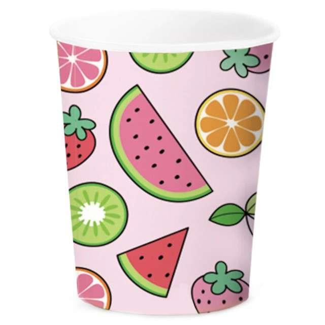 """Kubeczki papierowe """"Owocowe Arbuzy"""", różowe, PartyPal, 6 szt"""