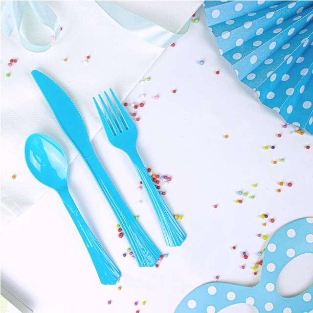 Noże plastikowe Classic PartyPal niebieskie 20 szt