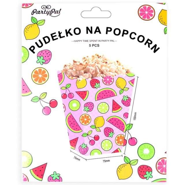 Pudełka na popcorn Arbuzy Aloha PartyPal  5 szt
