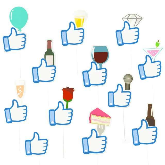 """Fotogadżety """"Polubienia - Facebook"""", 12 szt, PartyPal"""