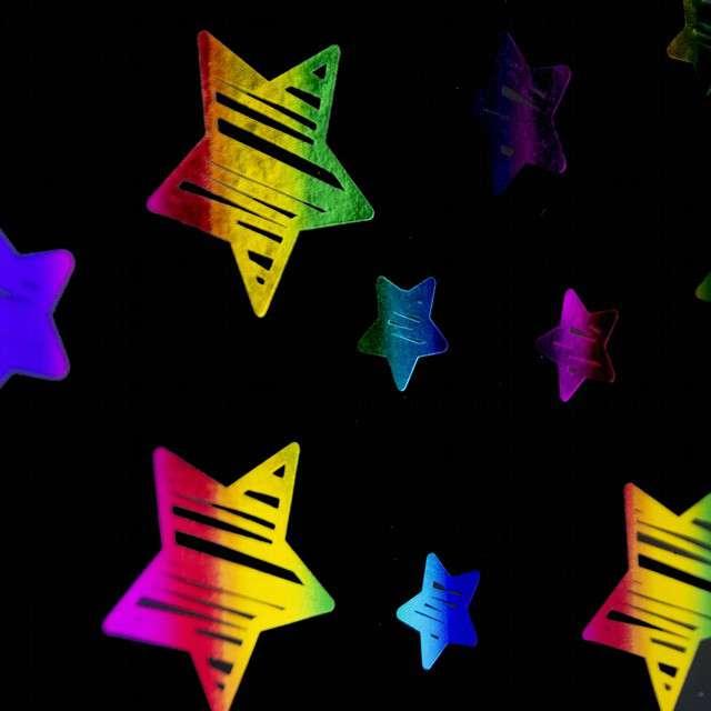 Torebka prezentowa Tęczowe Gwiazdy PartyPal 42 x 32 cm