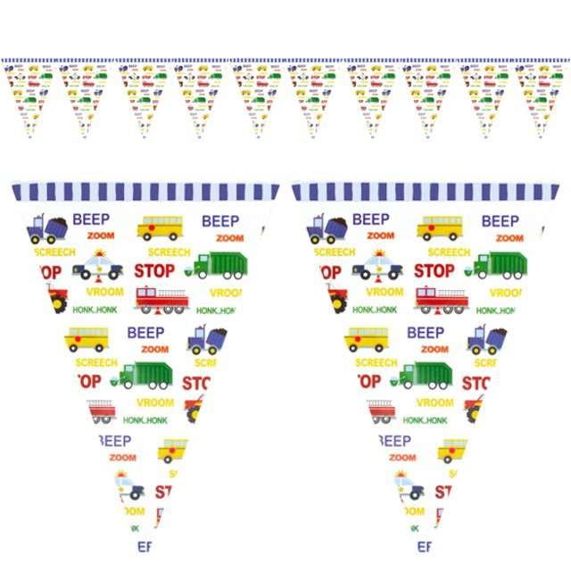 """Baner flagi """"Samochody z Dźwiękami"""", PartyPal, 3 m"""