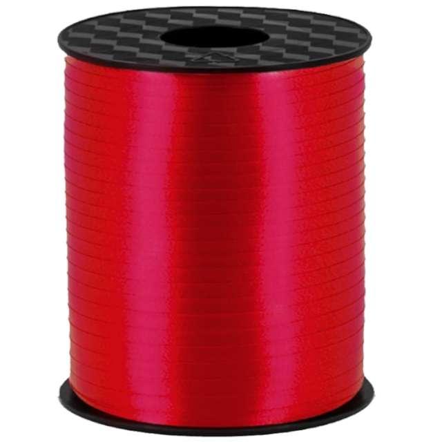 """Wstążka do balonów """"Classic"""", czerwony ciemny, PartyPal, 5 mm x 250 m"""