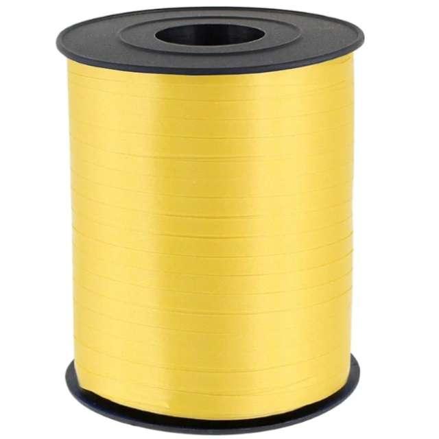 """Wstążka do balonów """"Classic"""", żółta, PartyPal, 5 mm x 250 m"""