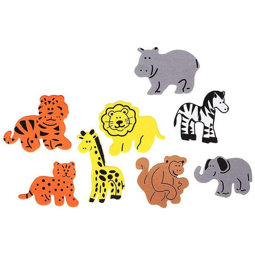 """Naklejki piankowe """"Zwierzęta w Dżungli"""", mix, Titanum, 46 szt"""