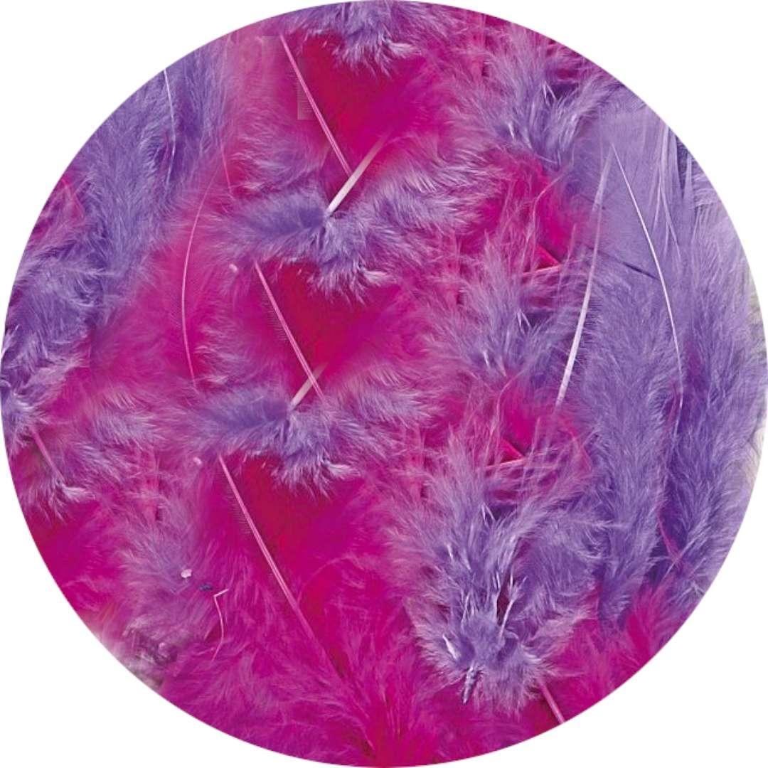 """Piórka dekoracyjne """"Classic"""", mix fioletowy, Titanum, 8 g"""
