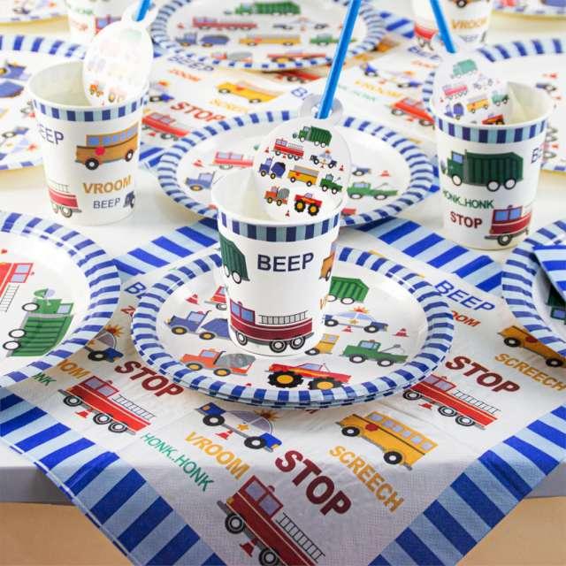 Kubeczki papierowe Samochody z Dźwiękami PartyPal 6 szt 230 ml