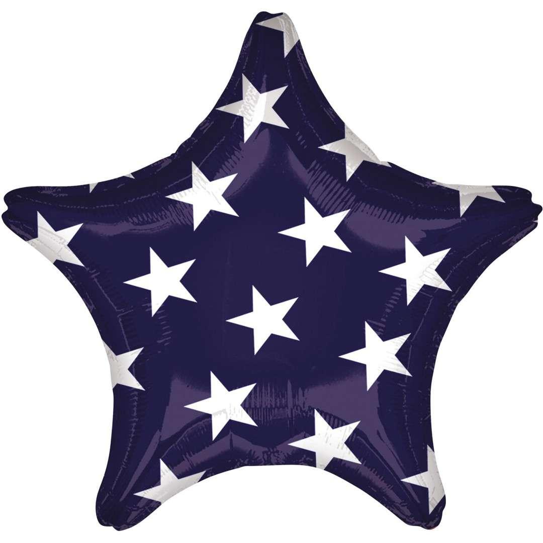 "Balon foliowy ""Gwiazda amerykańska"", mix, Amscan, 17"", STR"