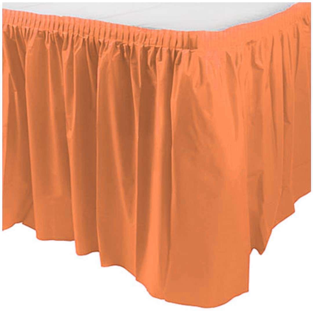 "Skirting ""Classic"", pomarańczowy, Amscan, 426 cm x 73 cm"