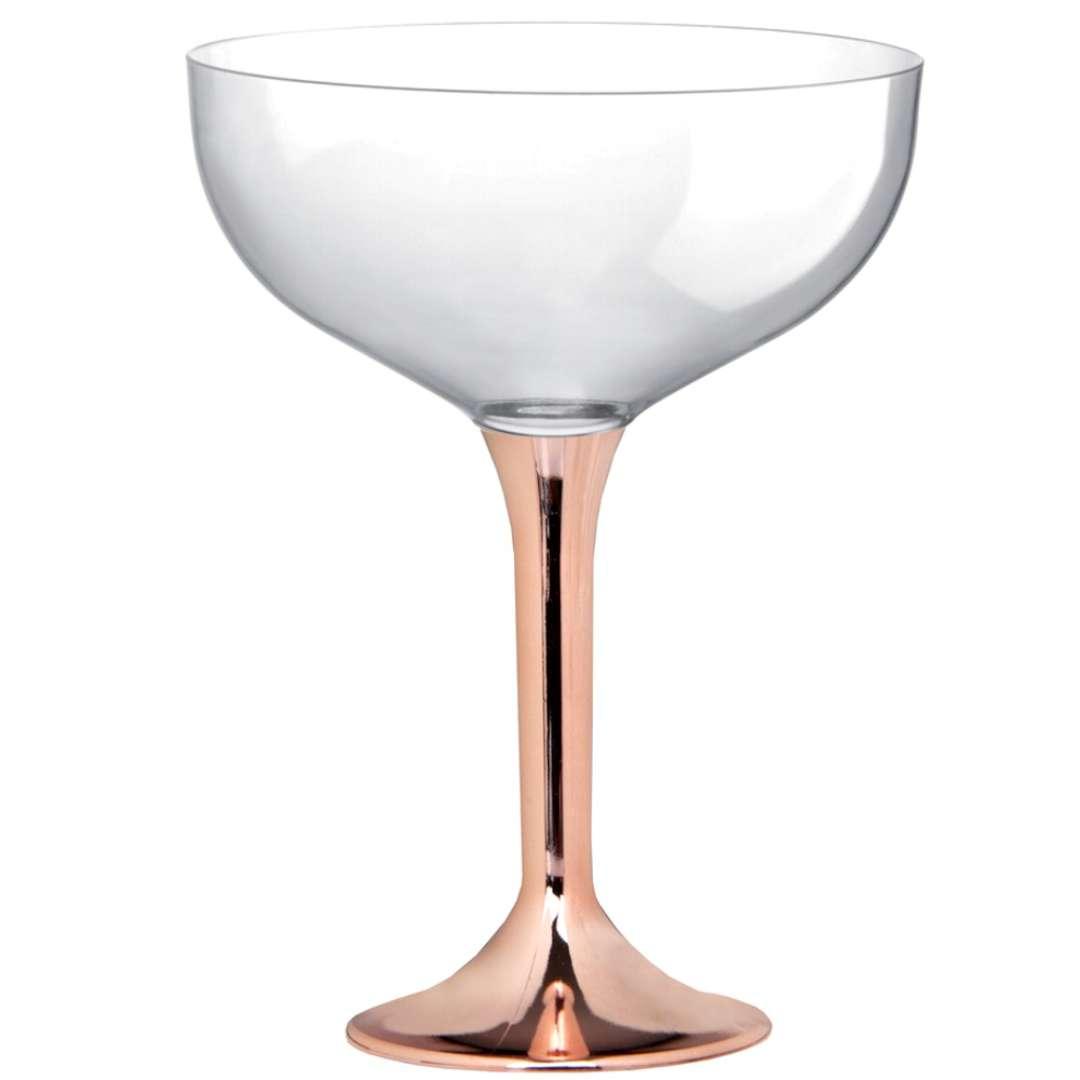 """Kieliszki jednorazowe """"Szampan Classic"""", szampański chrom, GoldPlast, 205 ml, 10 szt"""