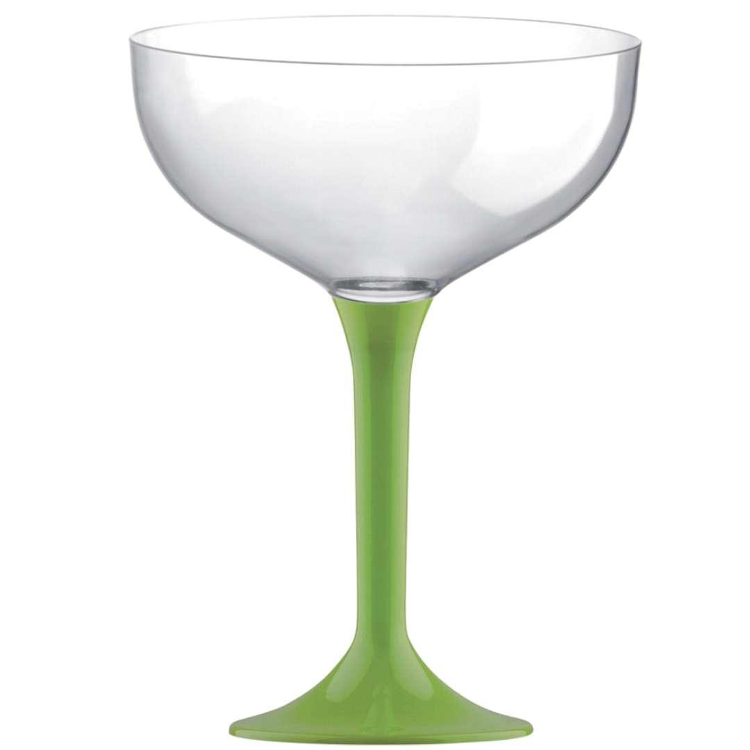 """Kieliszki jednorazowe """"Szampan Classic"""", zielone jasne, GoldPlast, 205 ml, 10 szt"""