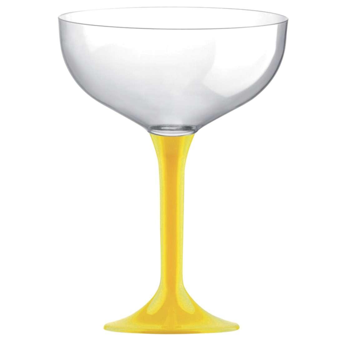 """Kieliszki jednorazowe """"Szampan Classic"""", żółte, GoldPlast, 205 ml, 10 szt"""