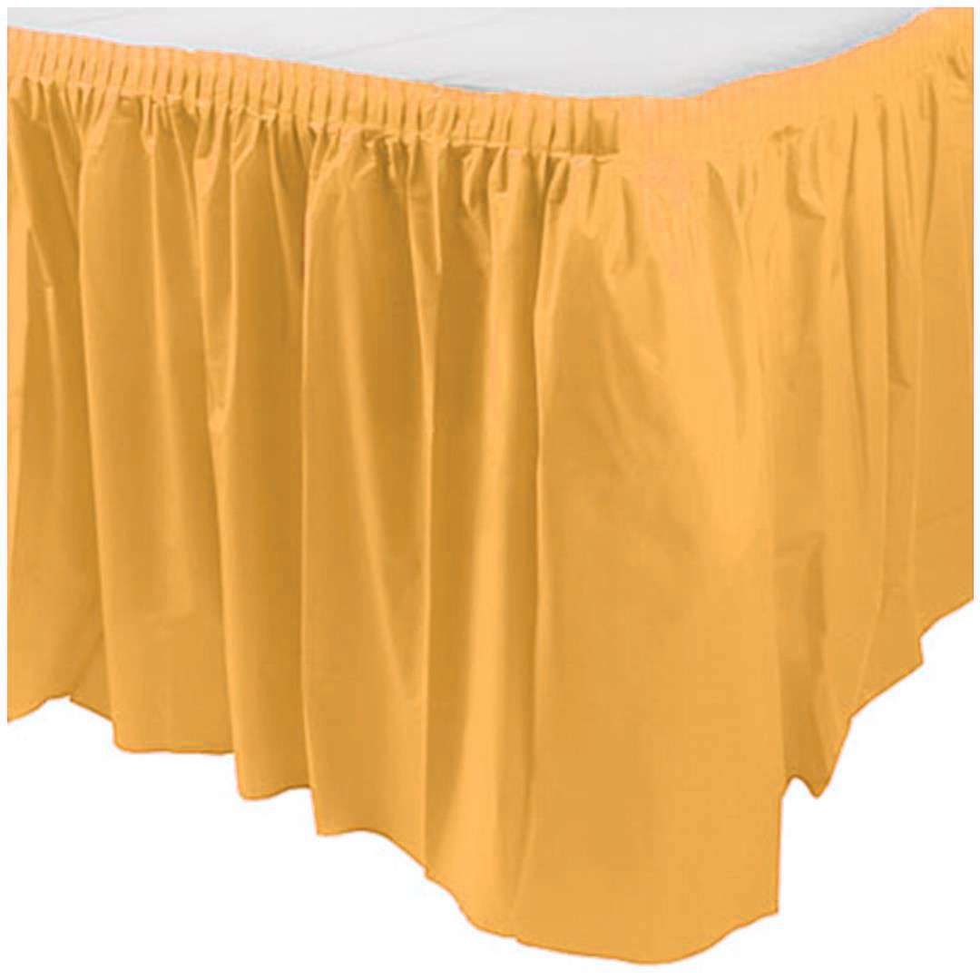 """Skirting """"Classic"""", żółty, Amscan, 426 cm x 73 cm"""