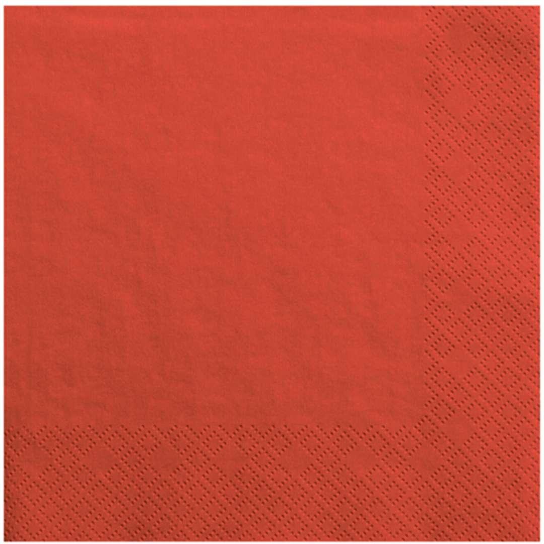"""Serwetki """"Lunch Classic"""", czerwone, 33 cm, 20 szt"""
