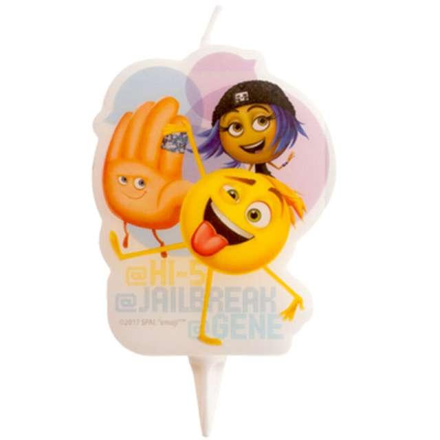 """Świeczka na tort """"Emoji"""", Dekora, 7,5 cm"""