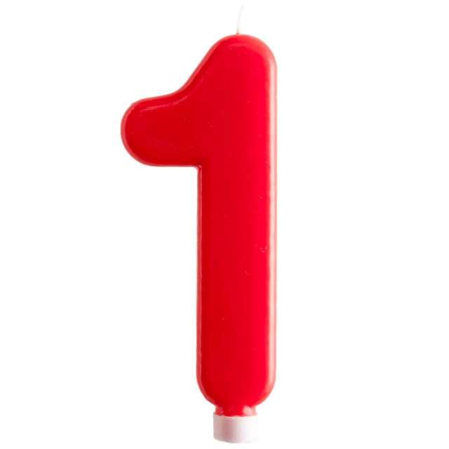 """Świeczka """"Cyfra 1 - Giant"""", Dekora, czerwona, 15 cm"""