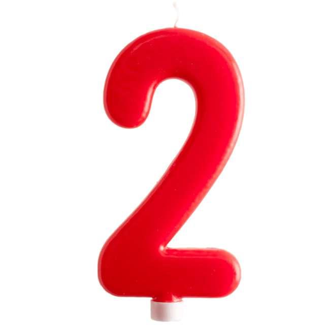 """Świeczka """"Cyfra 2 - Giant"""", Dekora, czerwona, 15 cm"""