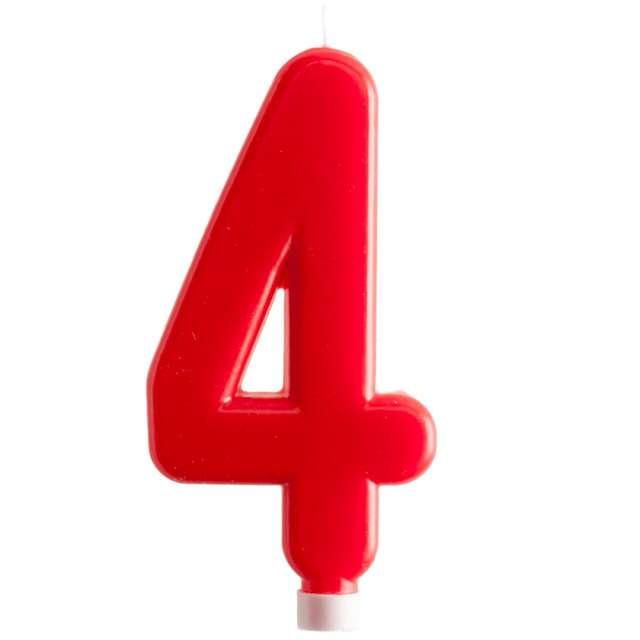 """Świeczka """"Cyfra 4 - Giant"""", Dekora, czerwona, 15 cm"""