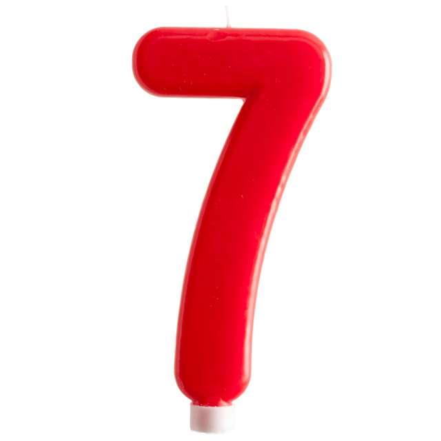 """Świeczka """"Cyfra 7 - Giant"""", Dekora, czerwona, 15 cm"""