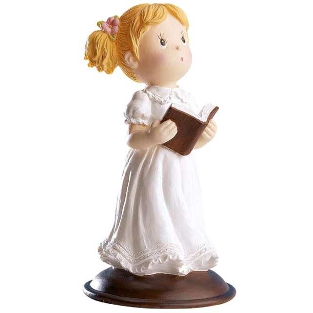 """Figurka na tort """"Komunia Dziewczynka z modlitewnikiem"""", Dekora, 12 cm"""