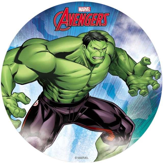 """Dekoracja tortu - opłatek bc """"Hulk - Avengers """", 20 cm, Dekora"""