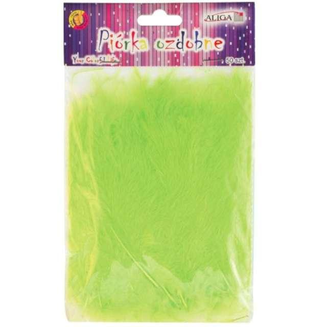 """Piórka dekoracyjne """"Classic"""", zielony, Aliga, 10-12 cm, 50 szt"""